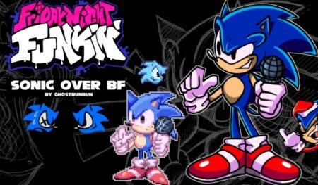 sonic over bf fnf mod