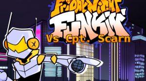 Cyberfunk VS Scarn FNF MOD